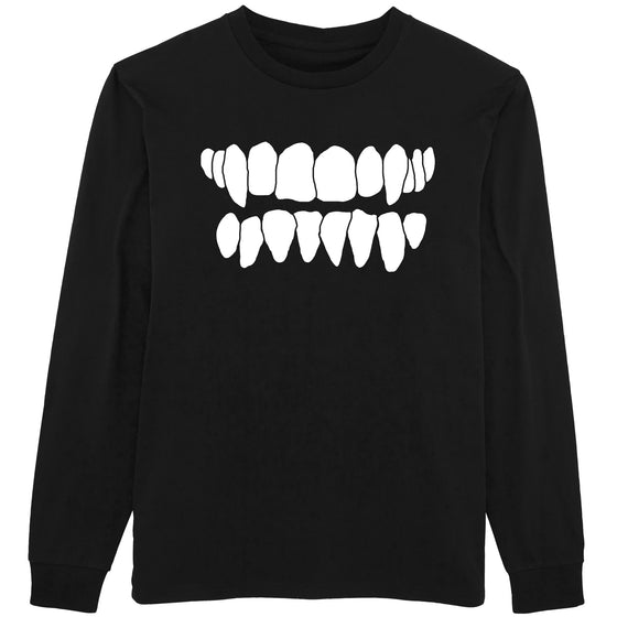 Grin Longsleeve T Shirt - Black