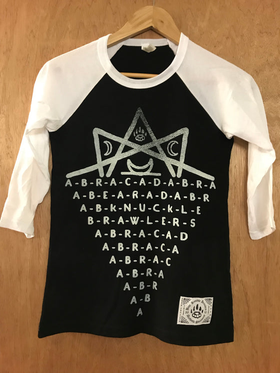 Abracadabra b/w Baseball - XS - Alternative Streetwear & Street Style from Bear Knuckle Brawlers