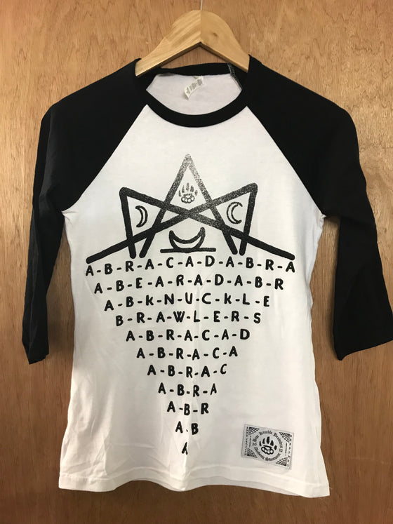 Abracadabra w/b Baseball - XS - Alternative Streetwear & Street Style from Bear Knuckle Brawlers