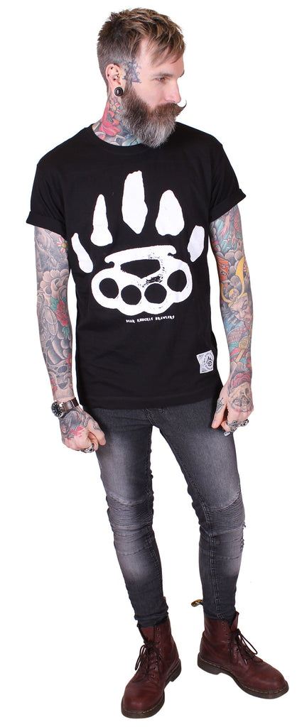 Men's Black T-Shirt - Signature - Alternative Streetwear & Street Style from Bear Knuckle Brawlers