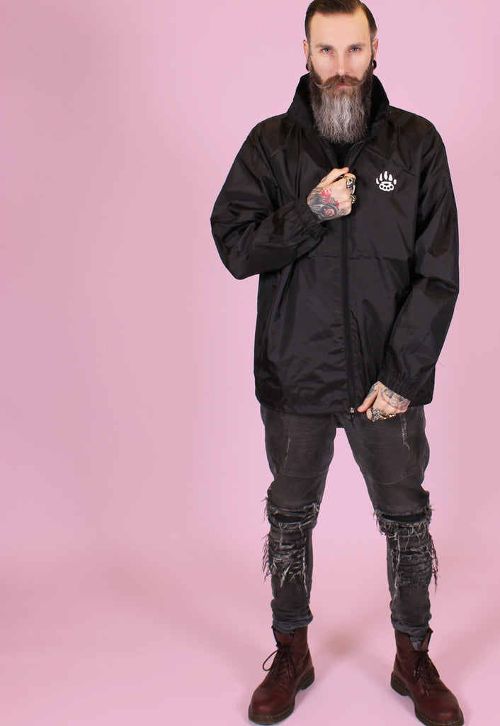 Death Moth Windbreaker - Black - Alternative Streetwear & Street Style from Bear Knuckle Brawlers