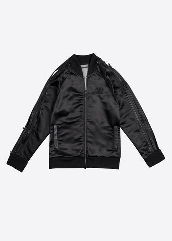 Sheer-Back Zipper Sukajan Track Jacket