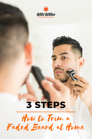Man Shaving the Sides of His Beard | 3 Tips for Fading a Beard at Home