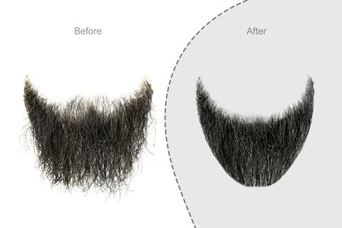 image demonstrating the effect proper grooming has on pointed and ducktail beard styles