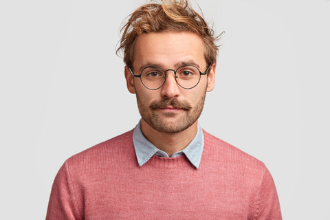 young man with the beardstache facial hair style