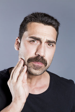 man with the chevron mustache style