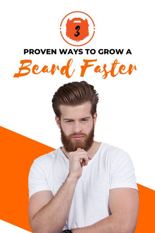 Man Holding His Hand on His Beard | How To Grow a Beard Faster