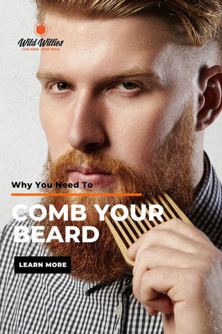 Man Combing His Beard | Does Using a Beard Comb Help?
