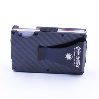 Black Aluminum & Carbon Fiber Wallet