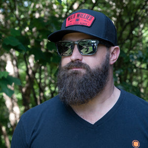 Classic Trucker - Black w/ Red Patch