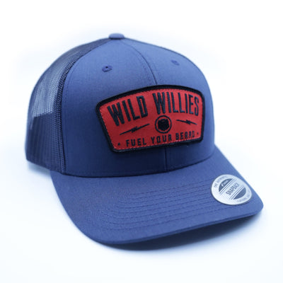 Classic Trucker - Navy w/ Red Patch
