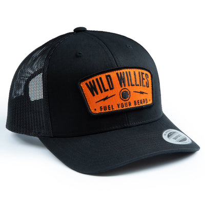 Classic Trucker - Black w/ Orange Patch