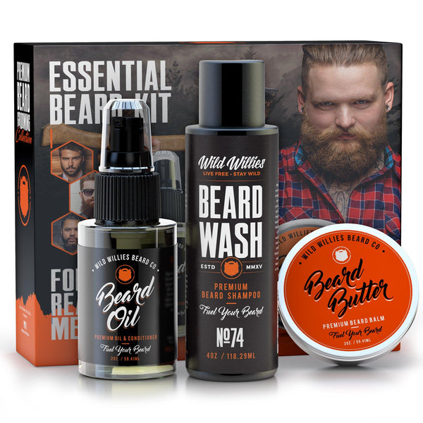 Wild Willies Essential Beard and Mustache Grooming Kit