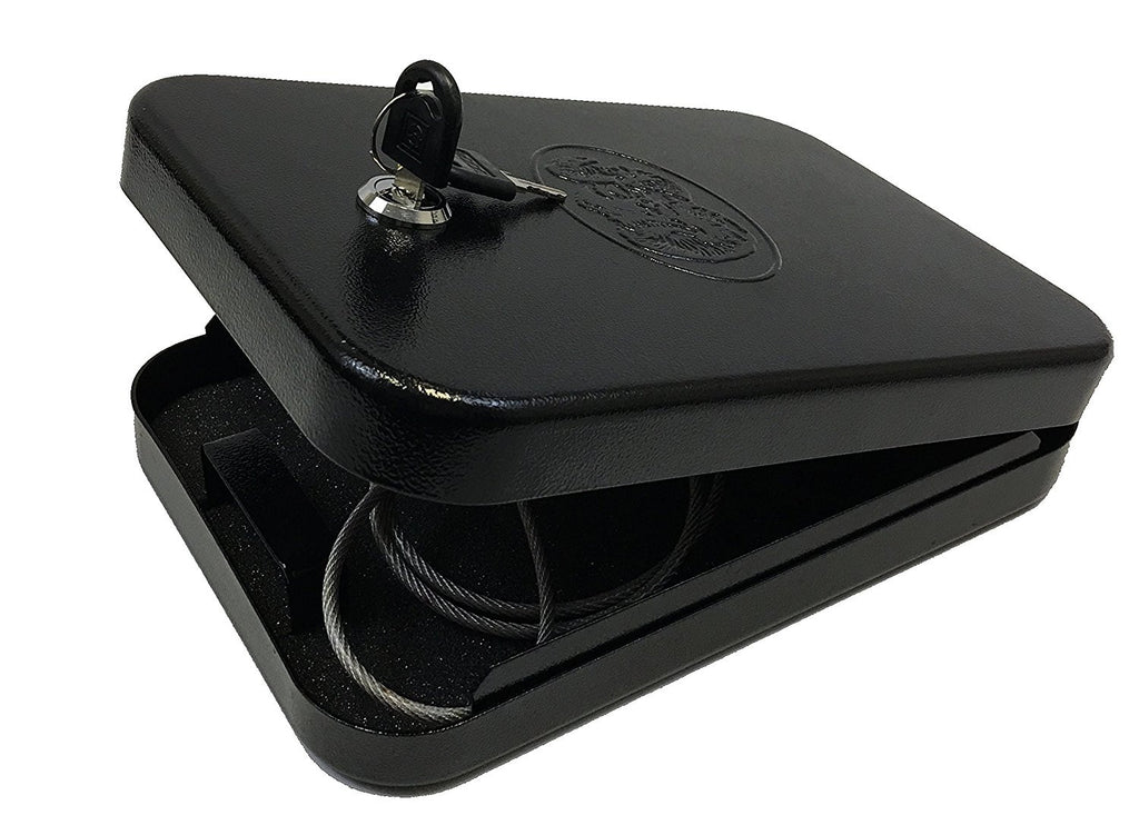 Handgun Safe Pistol Case Lock Box Home Security Gun Safety