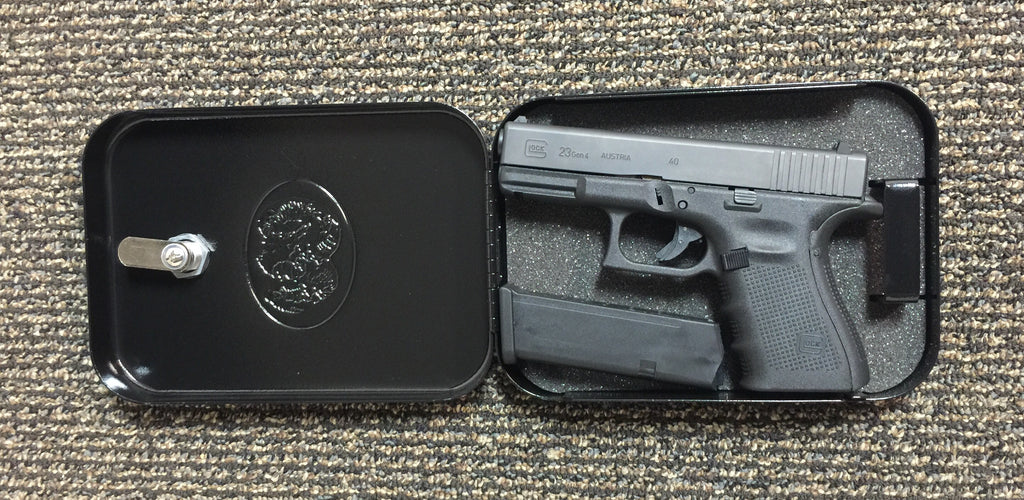Medium Handgun Safe Pistol Case Lock Box Home Security Cash Jewelry