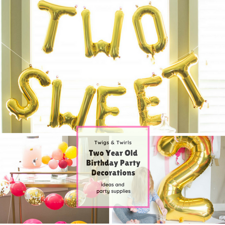 2nd Birthday Decorations: Two Sweet 2 year old birthday party
