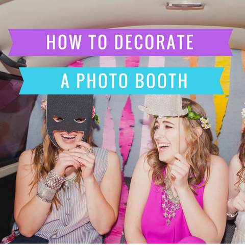 how to decorate a photbooth
