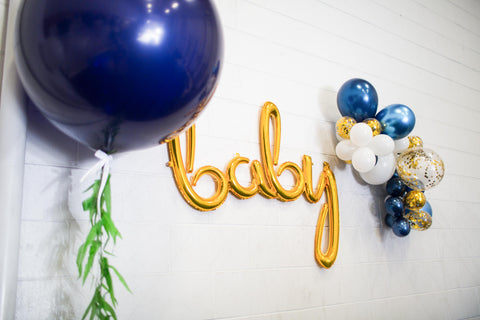 navy baby shower decorations