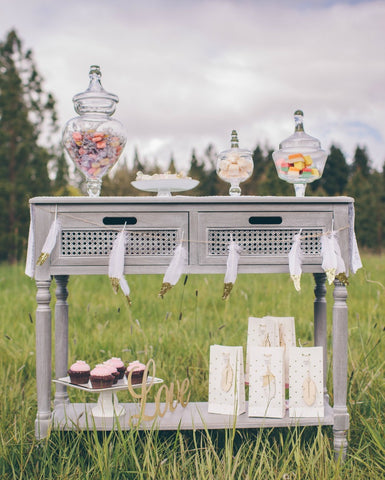 boho candy buffet