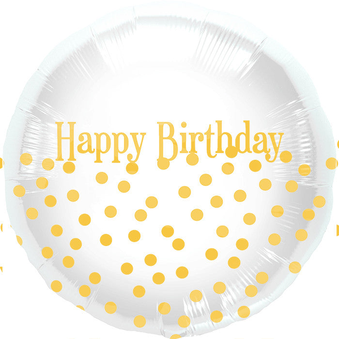 gold polka dot balloon