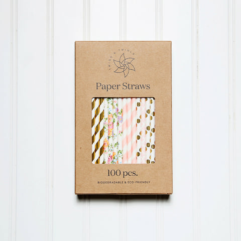 box of paper straws