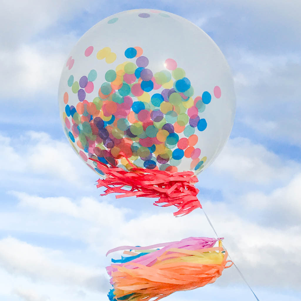 Jumbo Multicolor Confetti Balloon