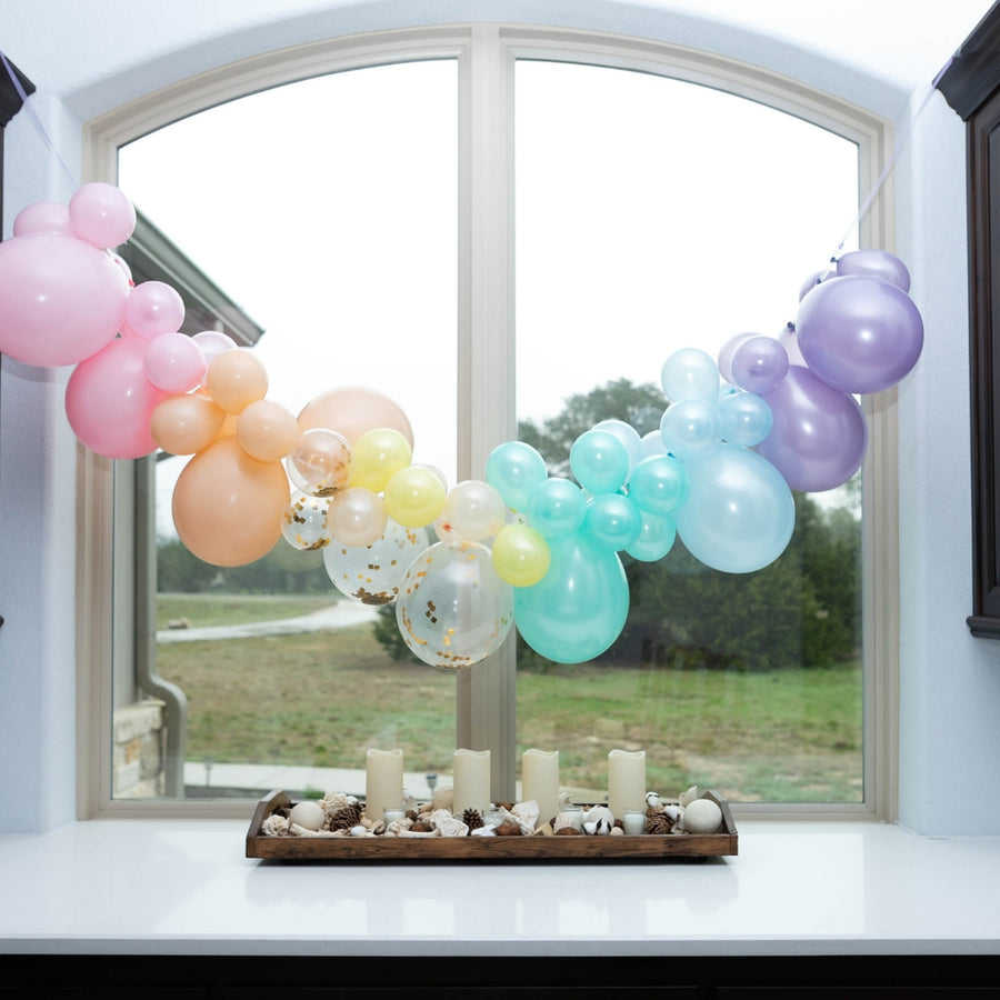 Balloon Arch Kit Pastel with Gold Confetti