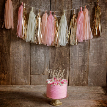 Light pink, peach, cream and metallic rose gold garland