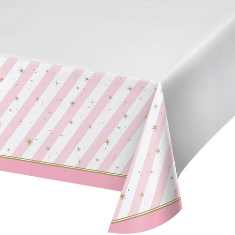 Pink and Gold Tablecloth