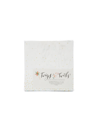 English Garden Mint and Gold Napkins
