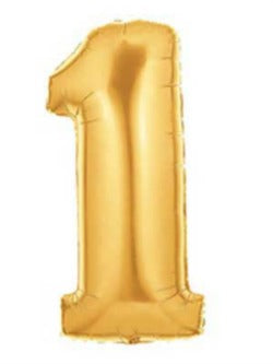 gold one balloon