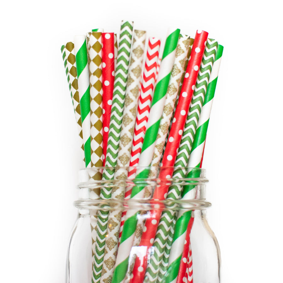 Jolly Holiday: Christmas Paper Straws