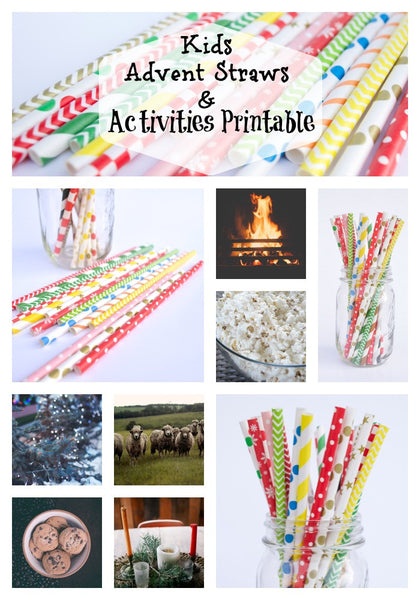 Christmas Advent Calendar Activity Straws for Kids