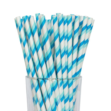 Double Blue Striped Straws