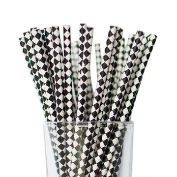 black diamond straws