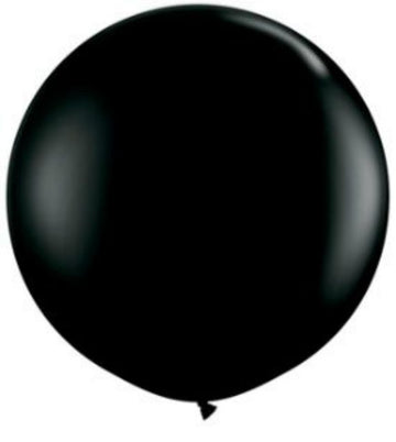 Jumbo Black Party Balloon, 36 in. QTY. 1
