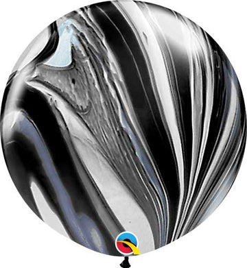 Jumbo black marble balloon
