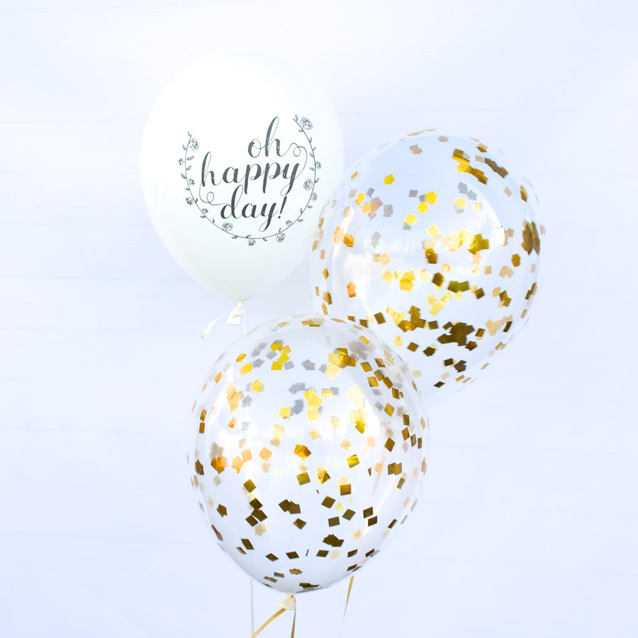 oh happy day script party balloons