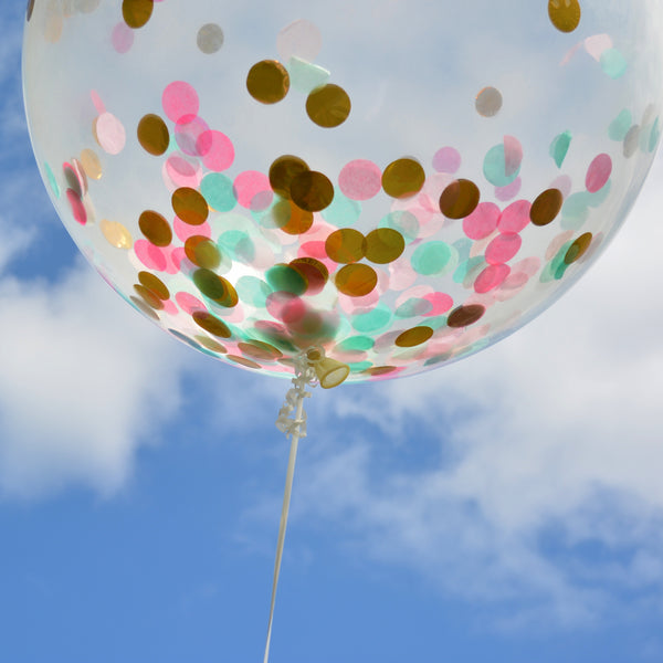 Jumbo Gold confetti Balloon