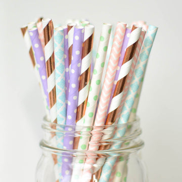 easter paper straws