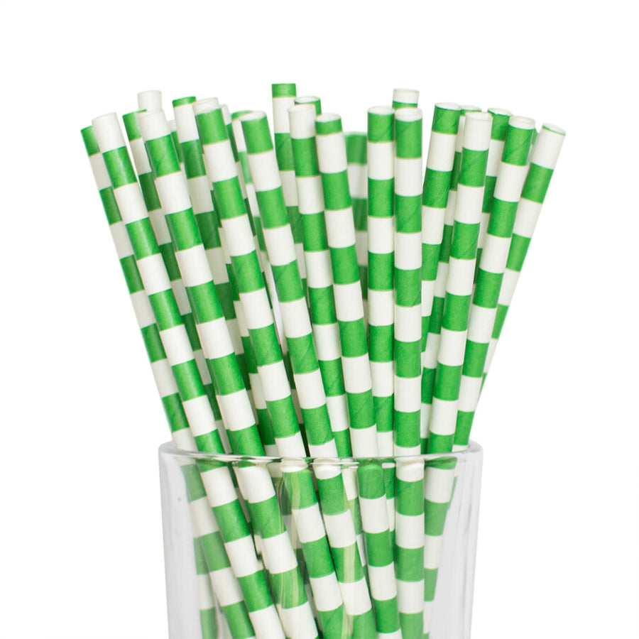Emerald Green Tube Straws