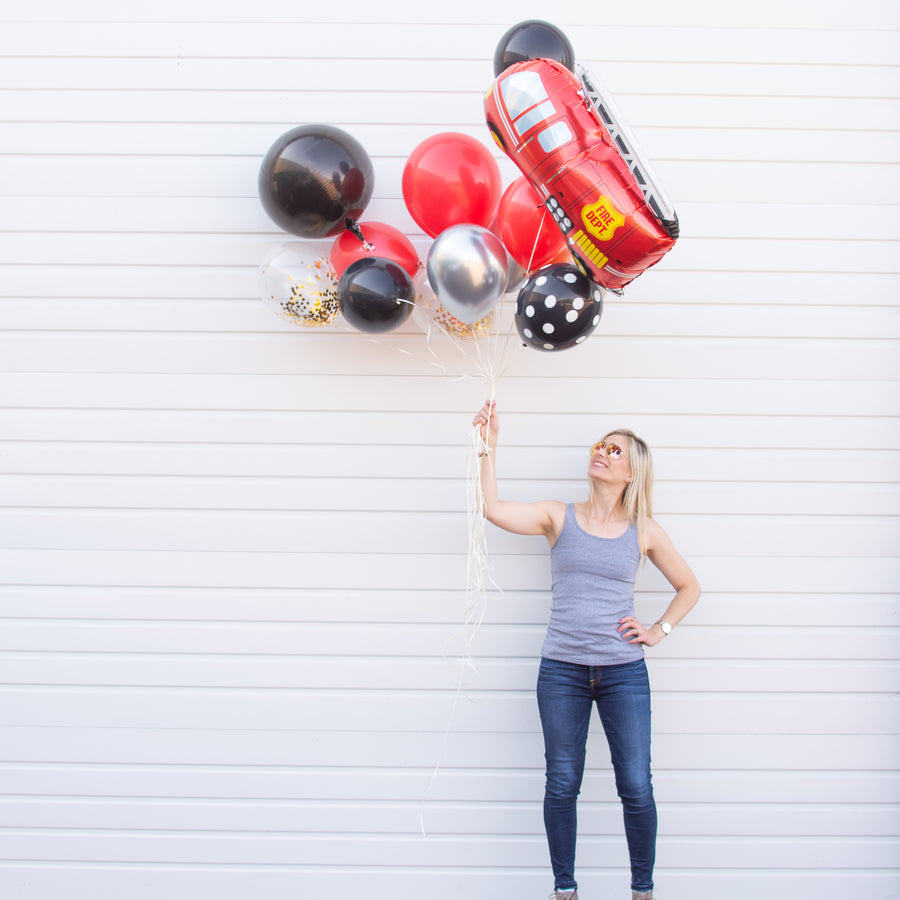 Fire Truck Party Balloon Bouquet