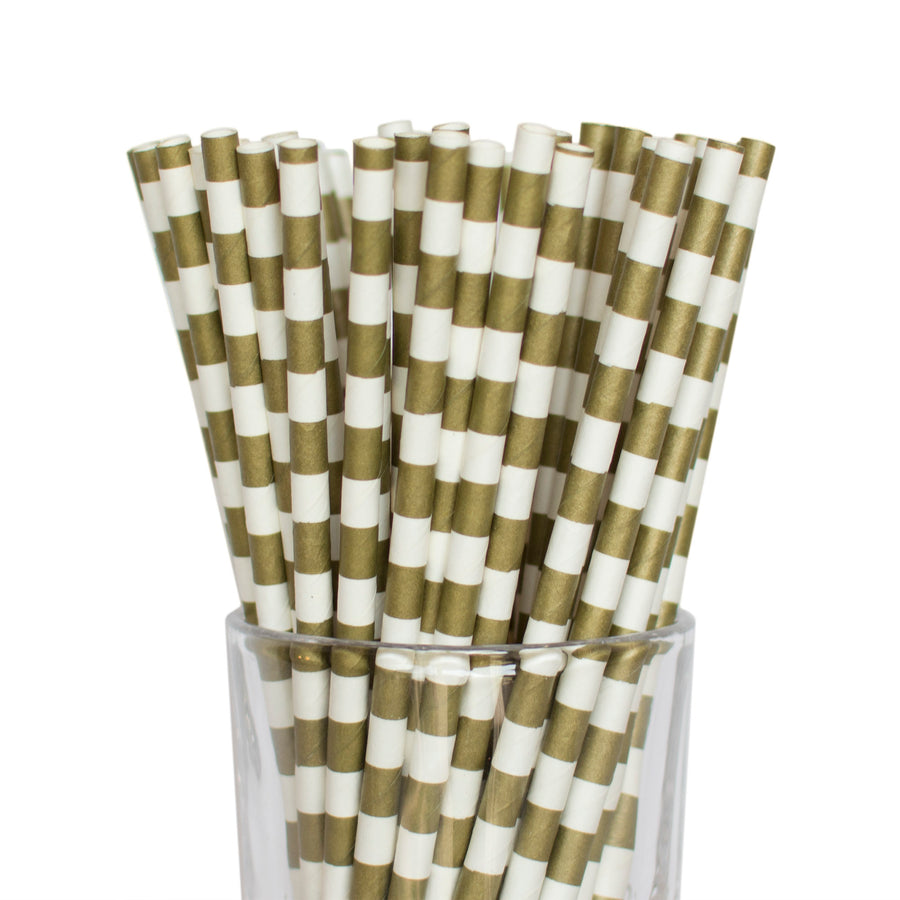 Gold Tube Straws