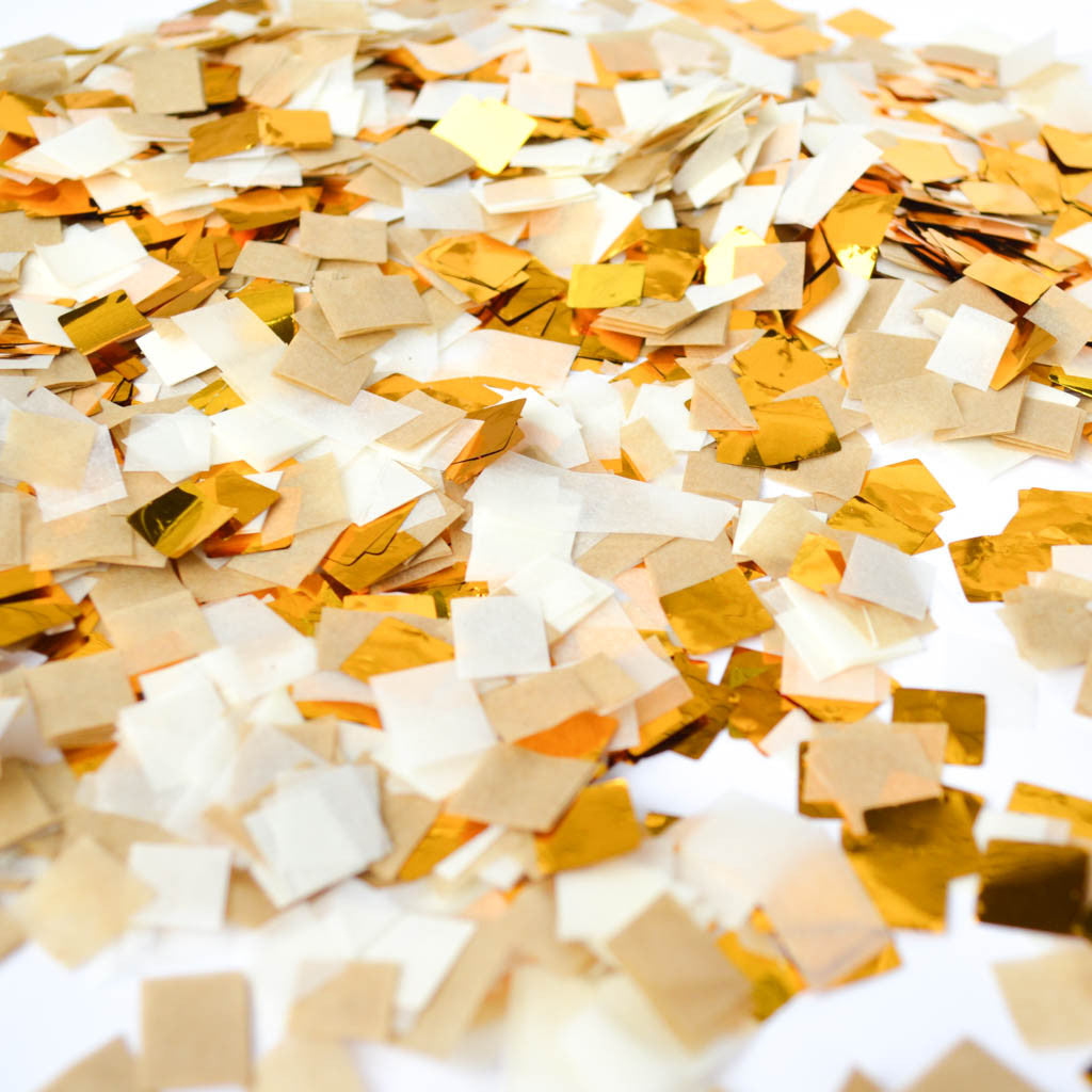 gold wedding confetti