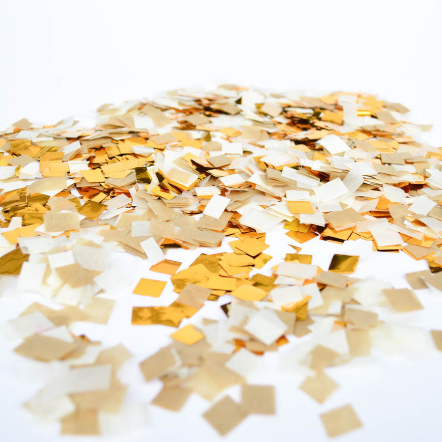 metallic gold confetti