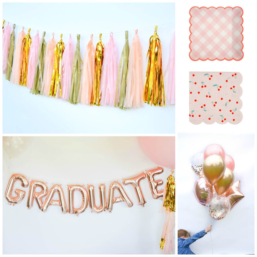 rose gold graduation