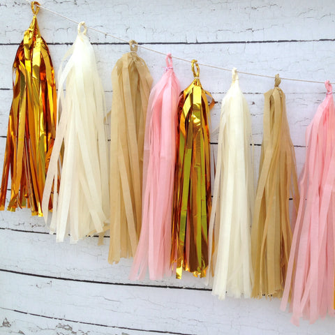 Shabby Chic Tassel Garland Kit