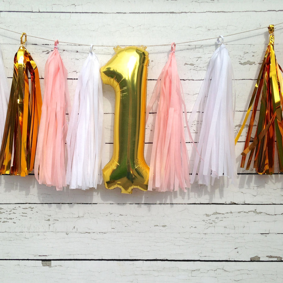 Tissue Tassel Birthday Number Garland Kit