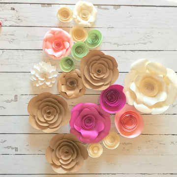 A Box of Paper Flowers: Closeout Craft Flowers