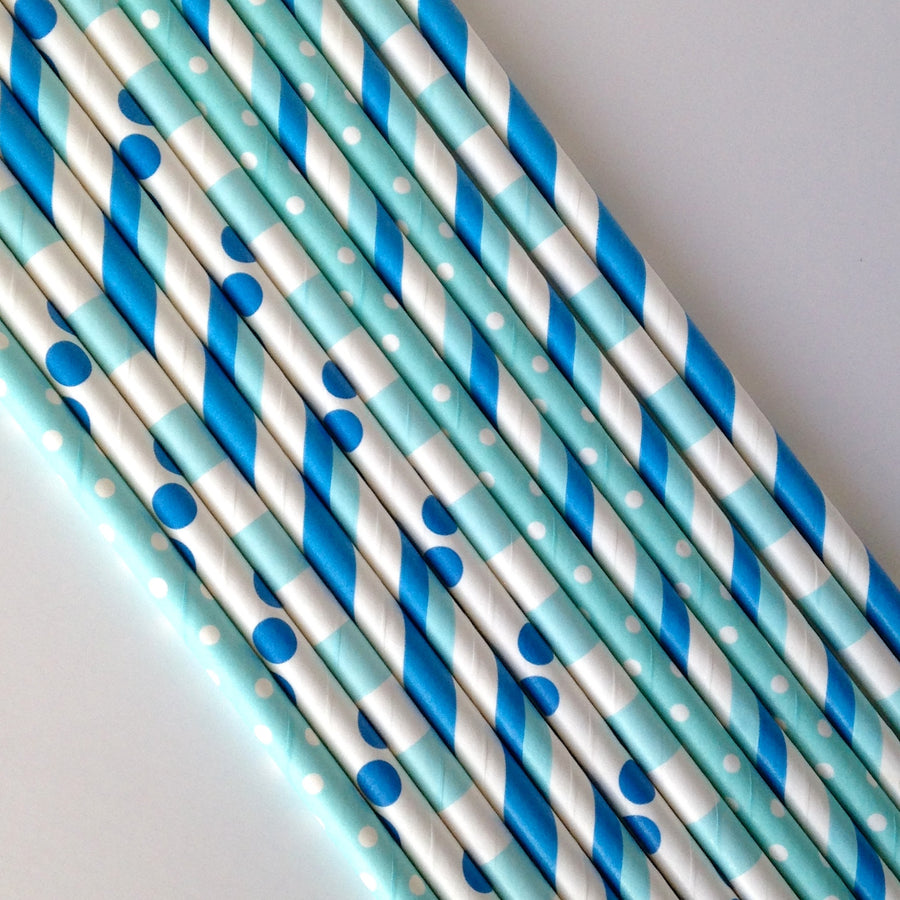 Little Boy Blue Paper Straws